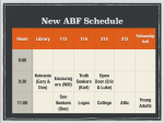 ABF Schedule Spring 2014