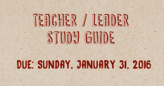 Teacher Leader Study Guide Announcement